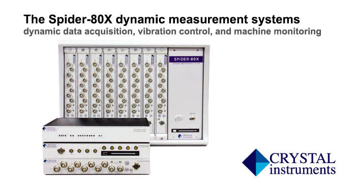Spider 80X dynamic measurement systems, Crystal Instruments