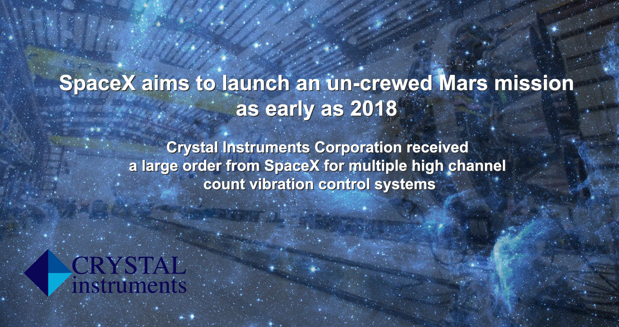Crystal Instruments Multiple vibration control systems for SpaceX