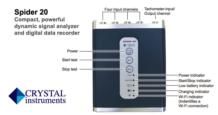 Crystal Spider 20 dynamic signal analyzer, data recorder