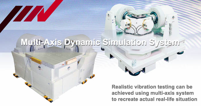 Multi-axis, dynamic vibration simulation test system