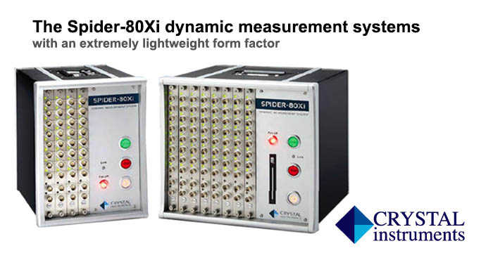 Spider 80Xi dynamic measurement systems, Crystal Instruments